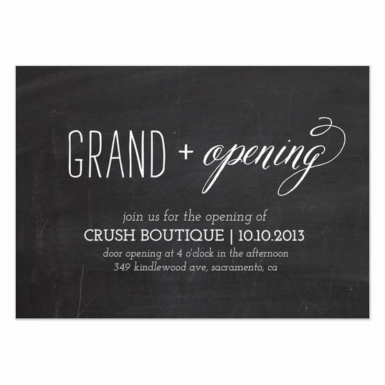Grand Opening Invitation Template Inspirational Chalkboard Grand Opening Invitations & Cards On Pingg