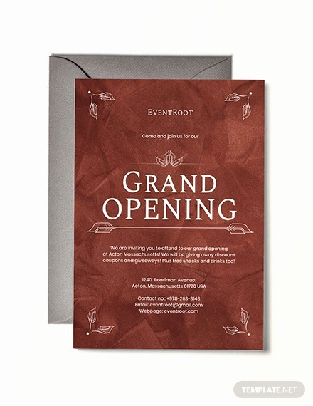 Grand Opening Invitation Template Lovely Free Fice Opening Invitation Card Template Download 537
