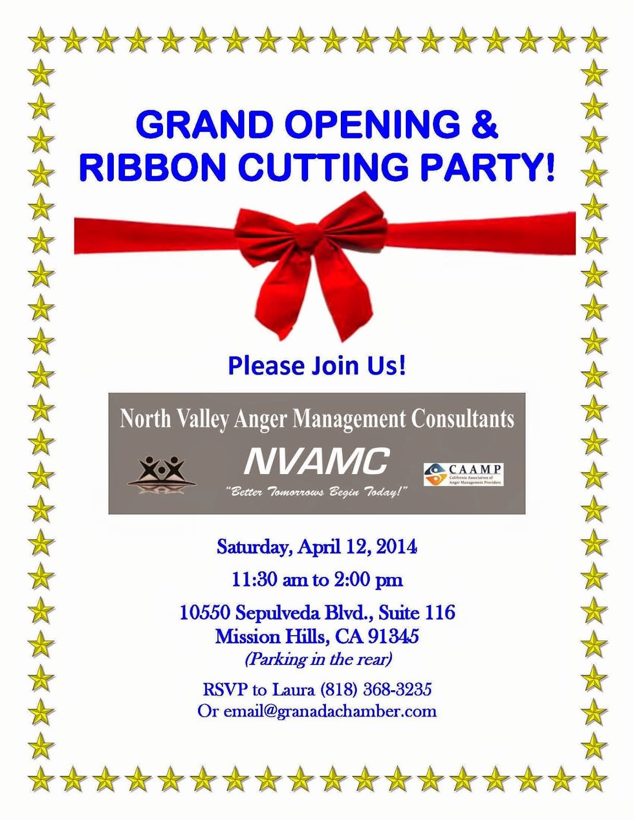 Grand Opening Invitation Template New Anger Management for Modern Life Grand Opening & Ribbon