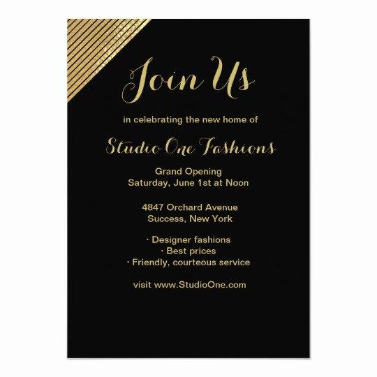 Grand Opening Invitation Template Unique Gold Accent Grand Opening Invitations