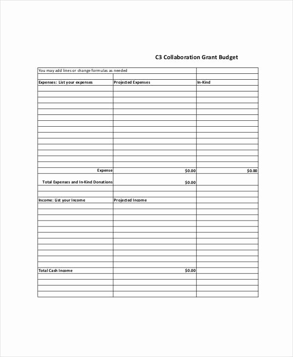 Grant Budget Template Excel Fresh Grant Bud Templates 9 Free Pdf Documents Download