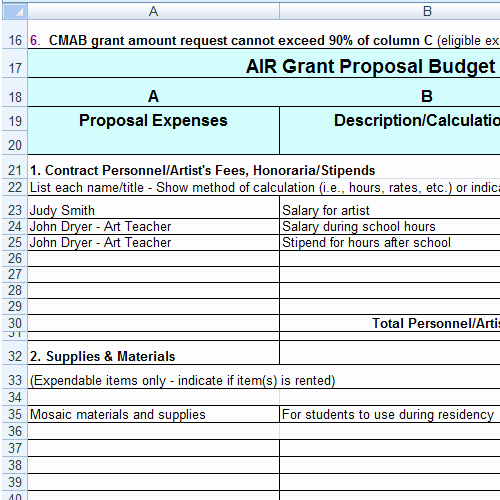 Grant Budget Template Excel Luxury Grant Proposal Bud Template Excel