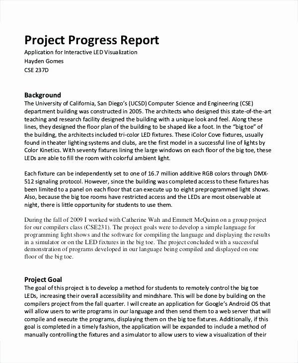 Grant Progress Report Template Elegant Quarterly Grant Report Template Progress Project Nih Example