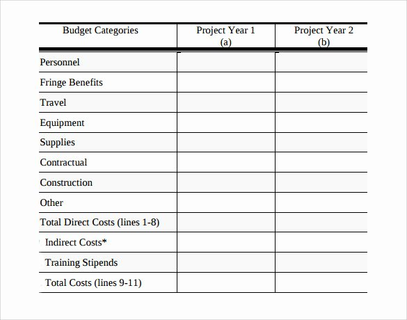 Grant Proposal Budget Template Inspirational 10 Grant Bud Samples