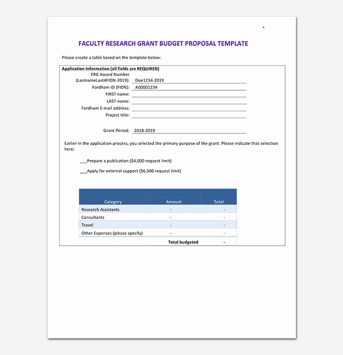 Grant Proposal Budget Template Inspirational Research Bud Template 14 Worksheets Examples for