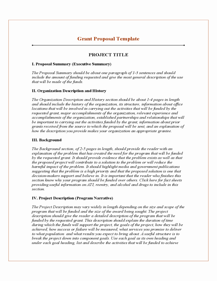 Grant Proposal Template Word Best Of 20 Free Project Proposal Template Ms Word Pdf Docx