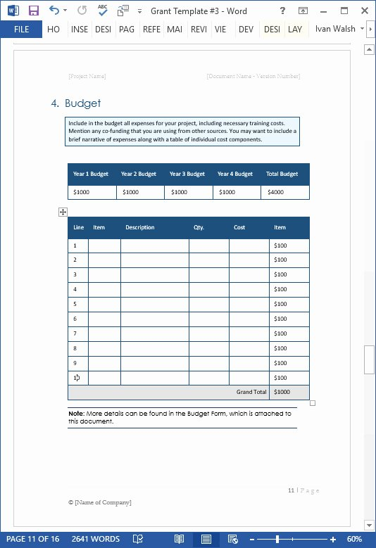 Grant Proposal Template Word Best Of Scholarship Proposal Template – Viagratofo