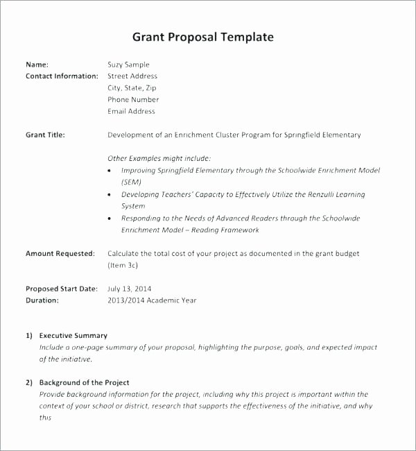 Grant Proposal Template Word Fresh Grant Proposal Template Grant Proposal Writing Template