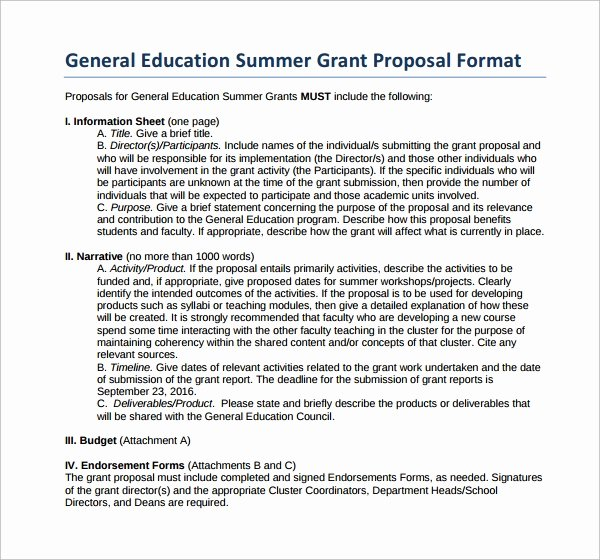 Grant Proposal Template Word Luxury 13 Sample Grant Proposal Templates to Download for Free