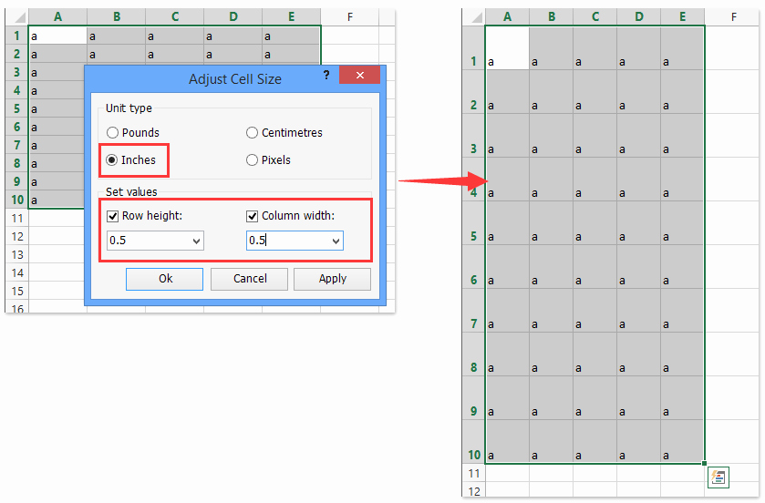 Graph Paper Template Excel New How to Create Grid Paper Square Template In Excel