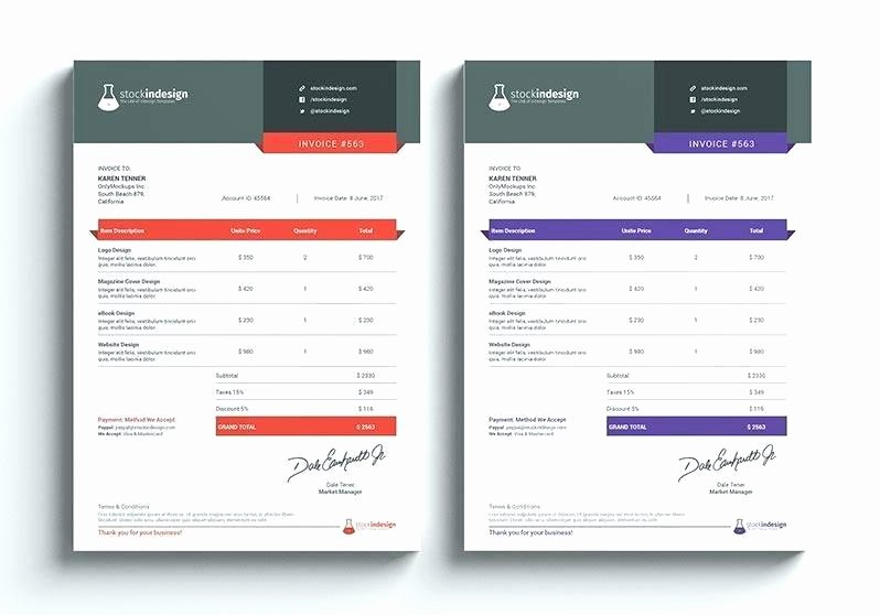 Graphic Design Invoice Template Awesome Cleaning Service Invoice Free Templates Mercial Template