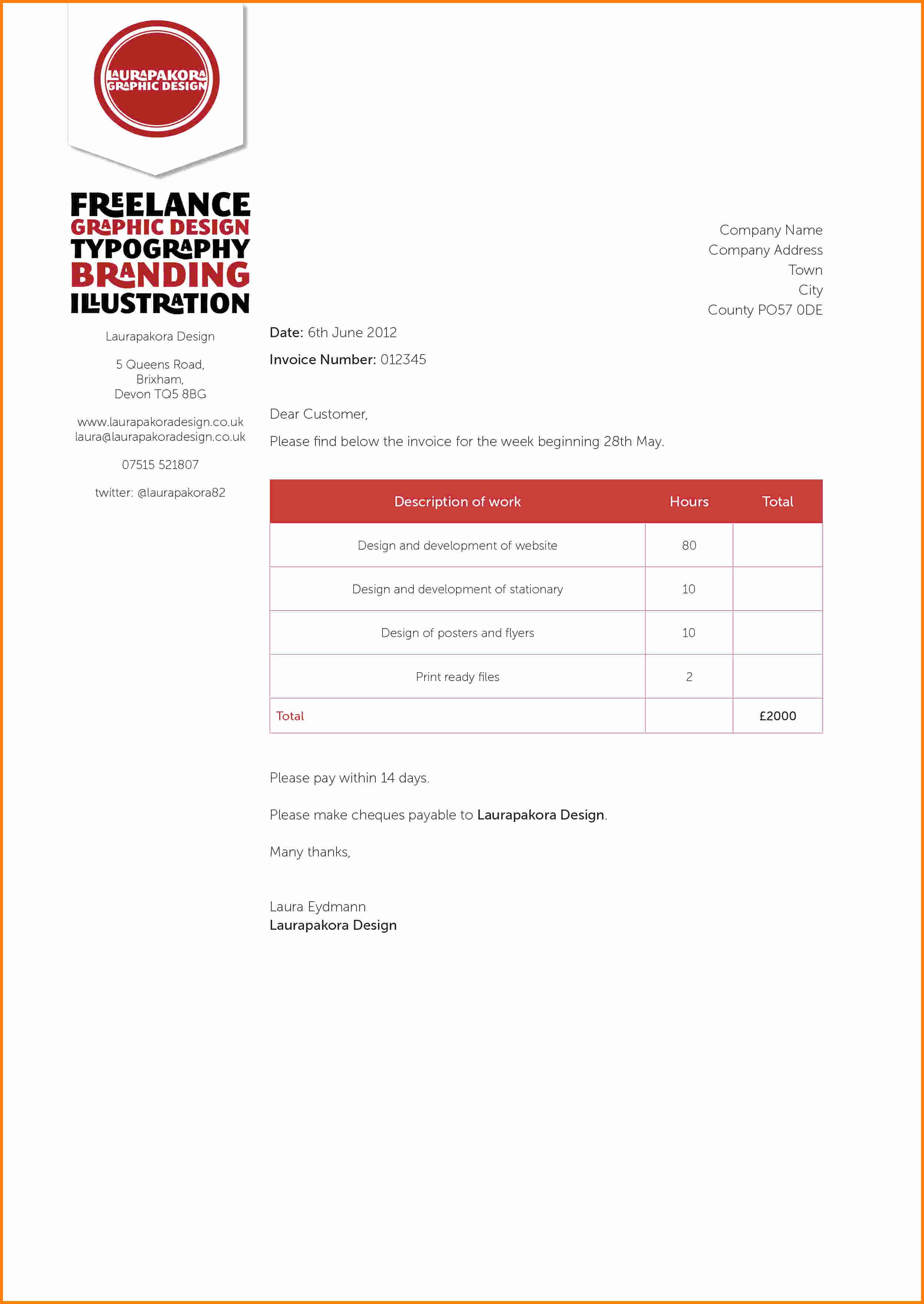 Graphic Design Invoice Template Awesome Graphic Design Invoice Invoice Design Inspiration