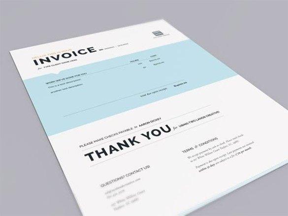 Graphic Design Invoice Template Elegant Designing Invoice Template – 10 Free Word Excel Pdf