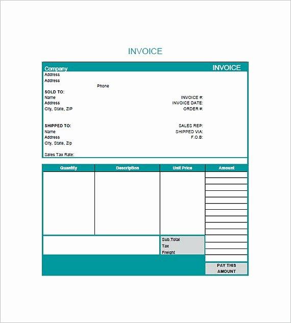 Graphic Design Invoice Template Inspirational Graphic Design Invoice Template