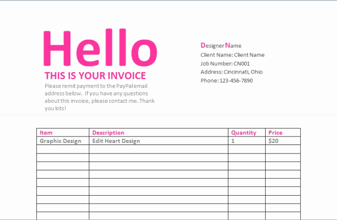 send you graphic design contract invoice and estimate templates