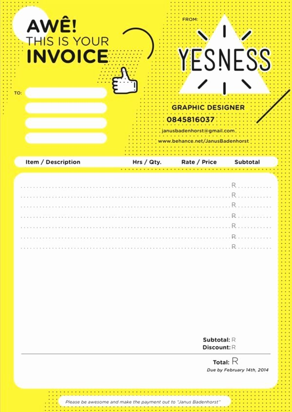 Graphic Design Invoice Template New Invoice Design 50 Examples to Inspire You