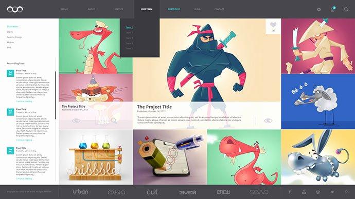 Graphic Design Portfolio Template Awesome 8 Creative Free Portfolio Psd Web Templates