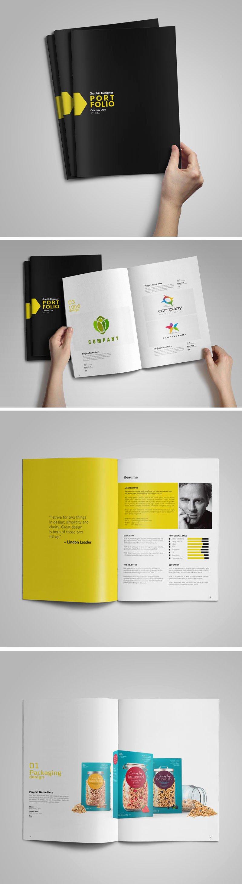 Graphic Design Portfolio Template Unique Free Graphic Designer Portfolio Template
