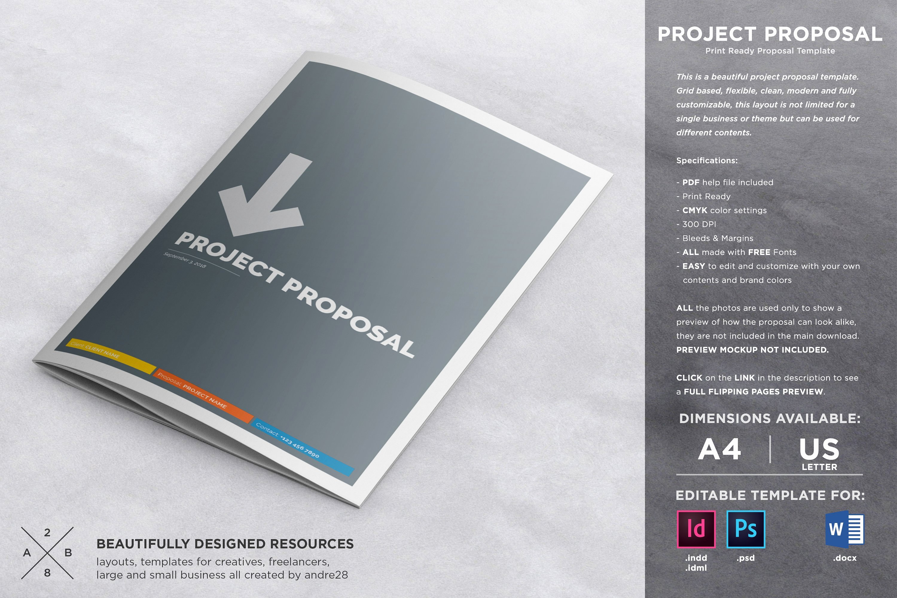 Graphic Design Proposal Template Awesome Proposal Contract & Invoice Brochure Templates