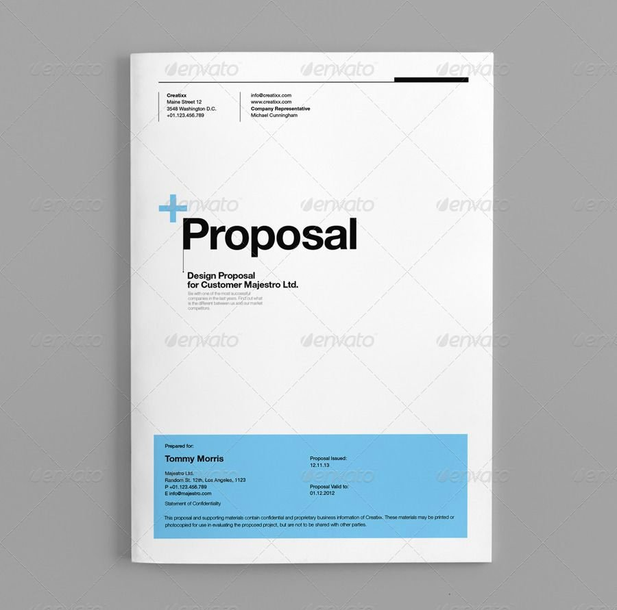 Graphic Design Proposal Template Beautiful Proposal Template Suisse Design Graphicriver