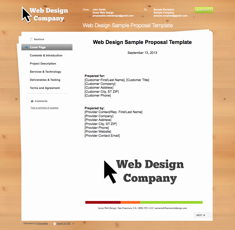 Graphic Design Proposal Template Elegant Business Proposal Templates the Proposable Blogthe