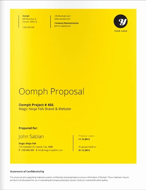 Graphic Design Proposal Template Unique 12 Best Proposal Covers Images On Pinterest