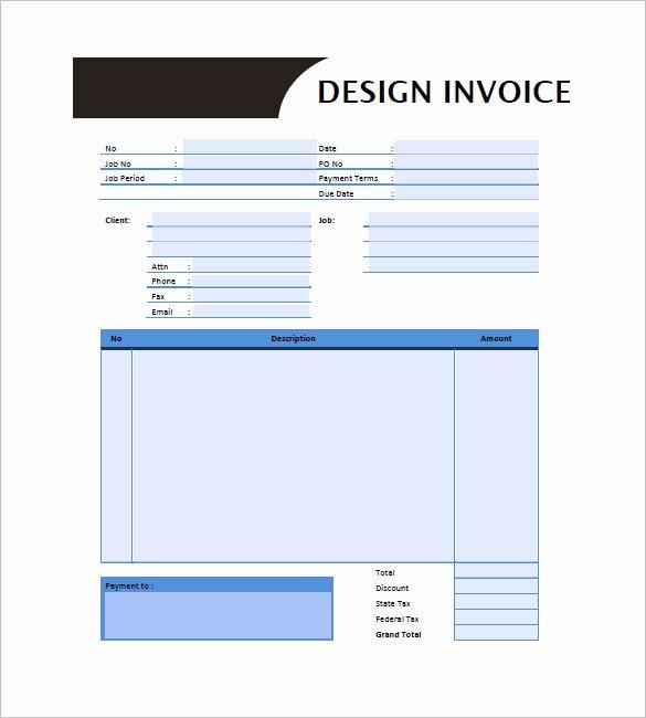 Graphic Designer Invoice Template Elegant Graphic Design Invoice Template 13 Free Word Excel