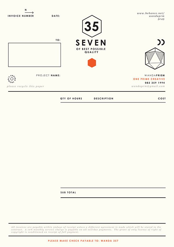 Graphic Designer Invoice Template Fresh Graphic Designer Invoice Design