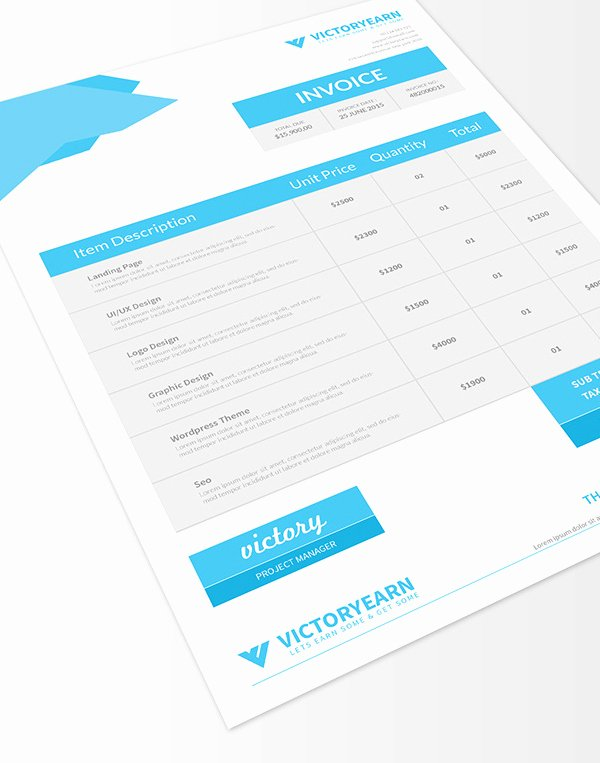 Graphic Designer Invoice Template Luxury Freebies 25 New Useful Free Vector and Psd Files