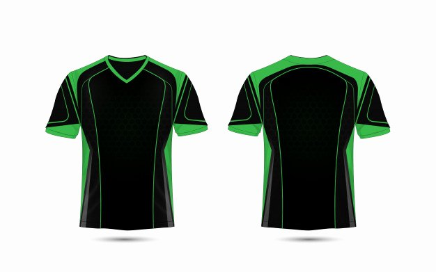 Green T Shirt Template Best Of Green and Black Layout E Sport T Shirt Design Template