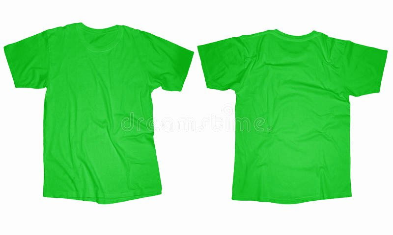 stock photo light green t shirt template wrinkled blank front back design isolated white image