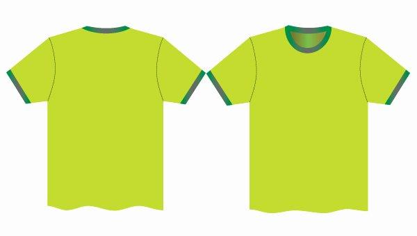 Green T Shirt Template Elegant Psd Tshirt