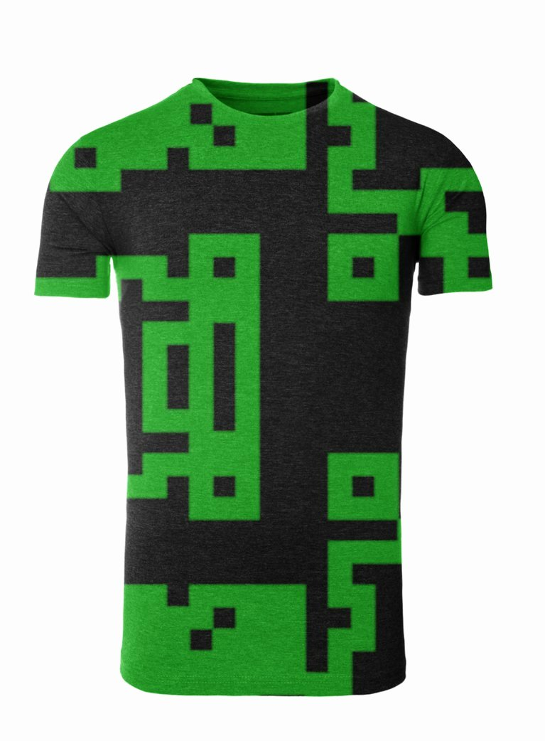 Green T Shirt Template Fresh Black and Green Pixel Design On T Shirt Template by