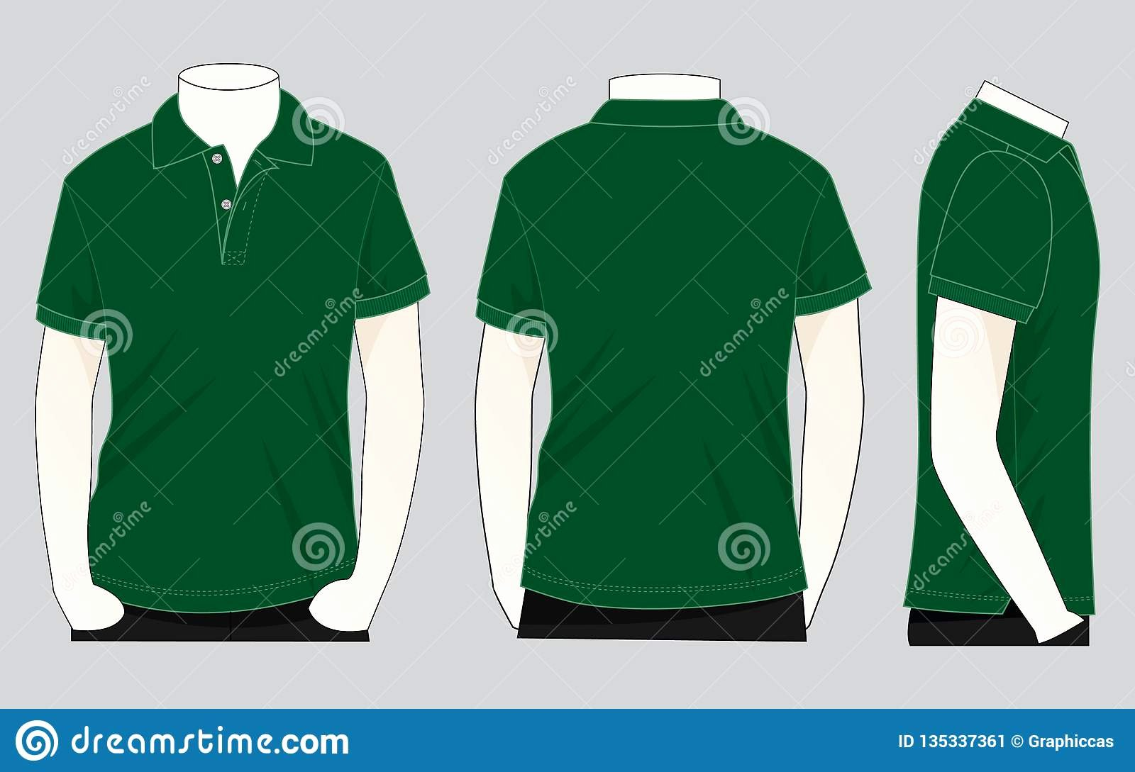 Green T Shirt Template Fresh Dark Green Polo Shirt Vecor for Template Stock