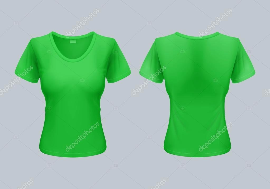 Green T Shirt Template Inspirational Women T Shirt Template Back and Front Views In Light Green