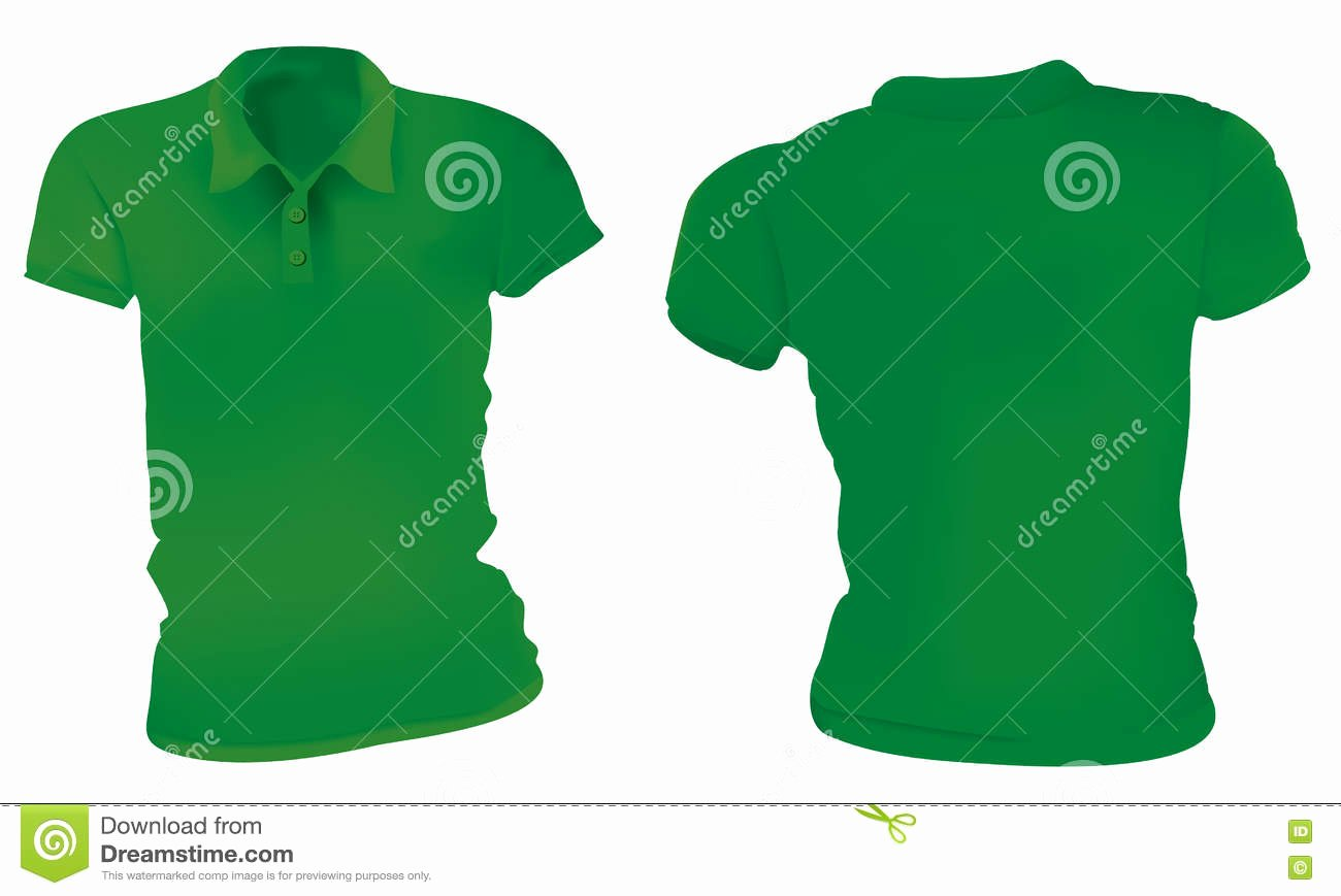 Green T Shirt Template Lovely Women Green Polo Shirts Template Stock Vector