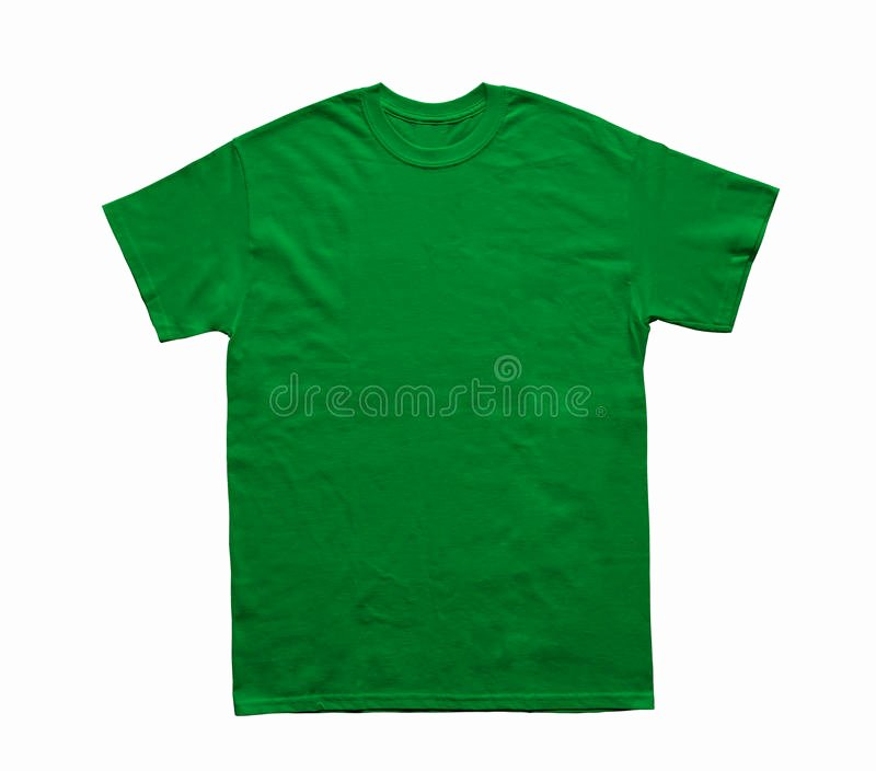 Green T Shirt Template New Blank T Shirt Color Light Green Template Stock Image