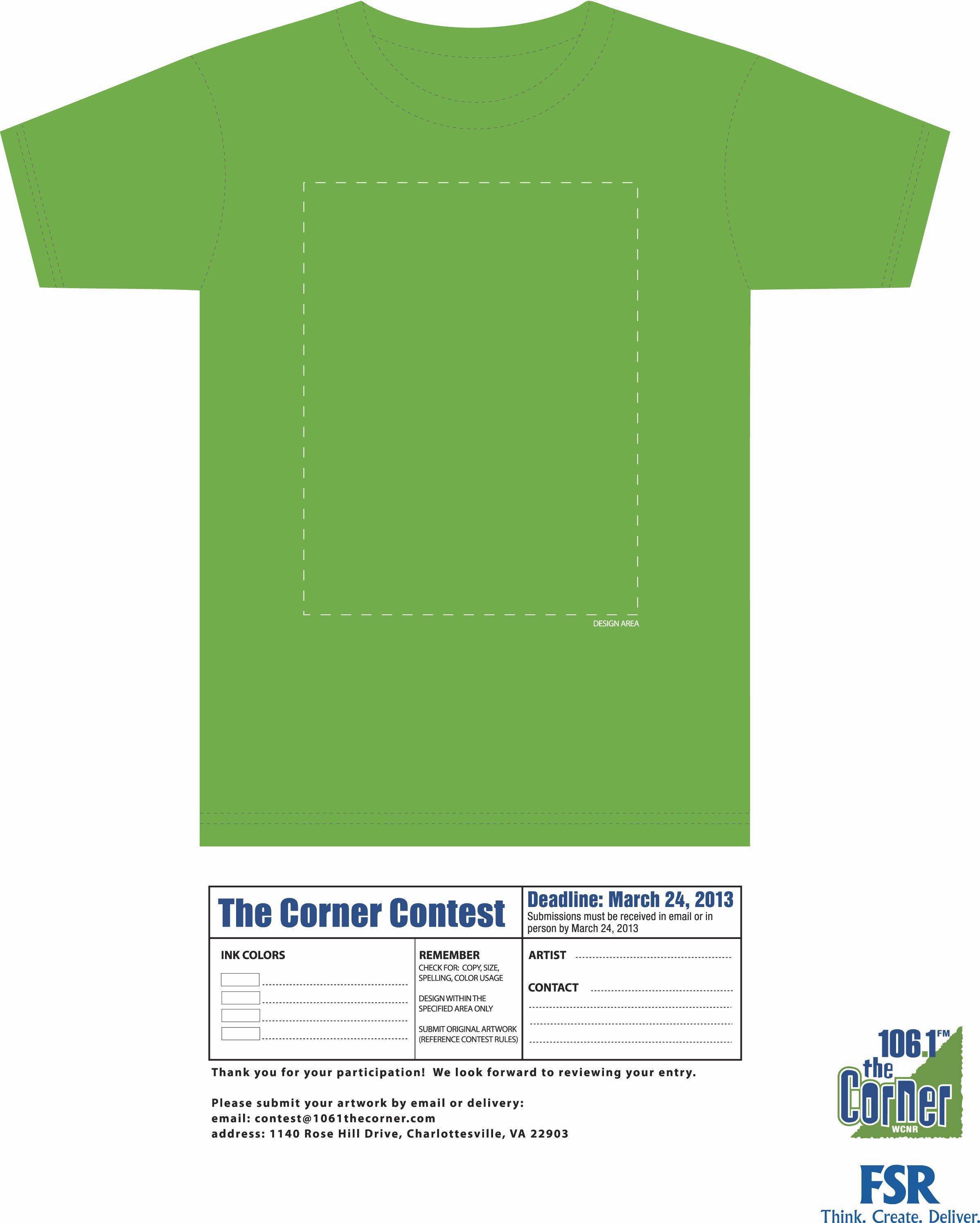 Green T Shirt Template New Design the Corner T Shirt with Fsr – Shirt Template