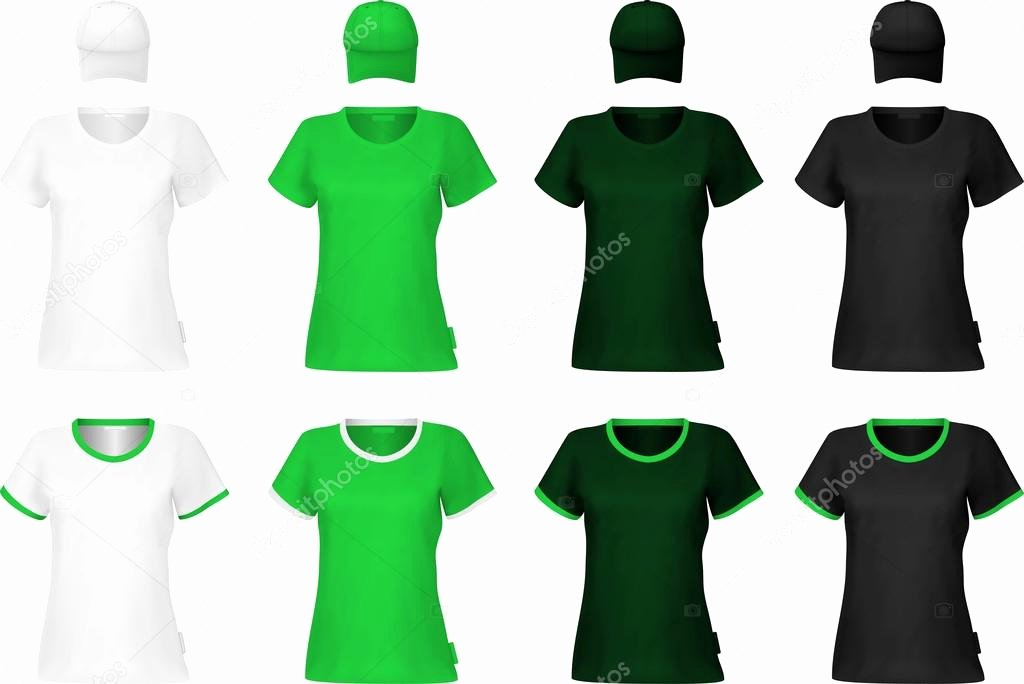 Green T Shirt Template Unique Blank V Neck T Shirt Template