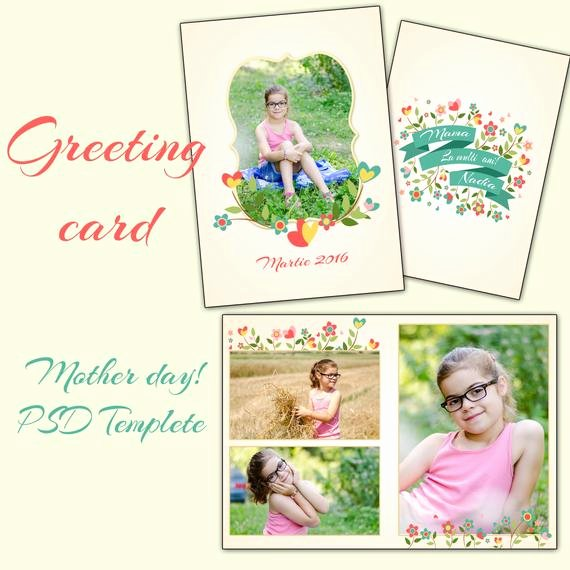 Greeting Card Template Photoshop Awesome Items Similar to 5x7 In Mother S Day Card Shop