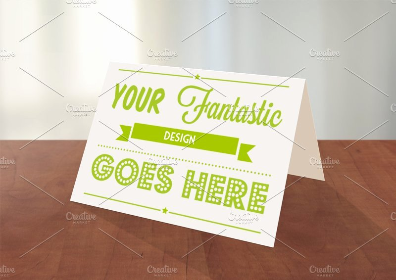 Greeting Card Template Photoshop Fresh Greeting Card Shop Mockup Card Templates Creative