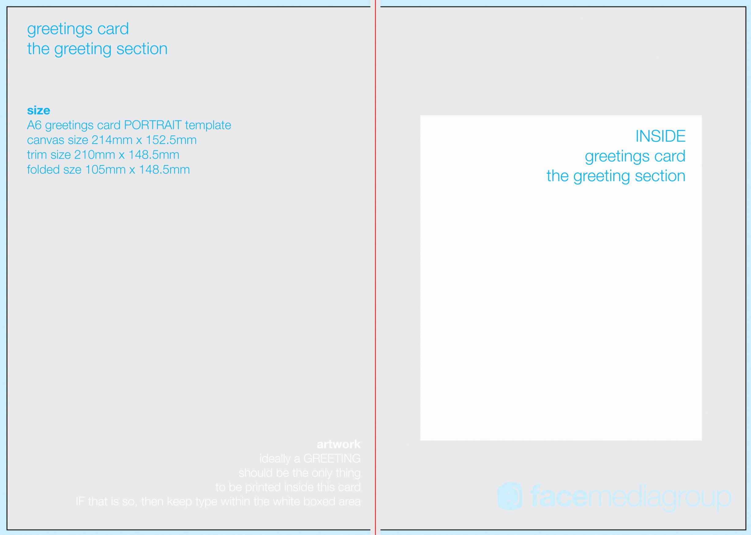 Greeting Card Template Photoshop New A11 Portrait Greetings Card Template – Standard Fold