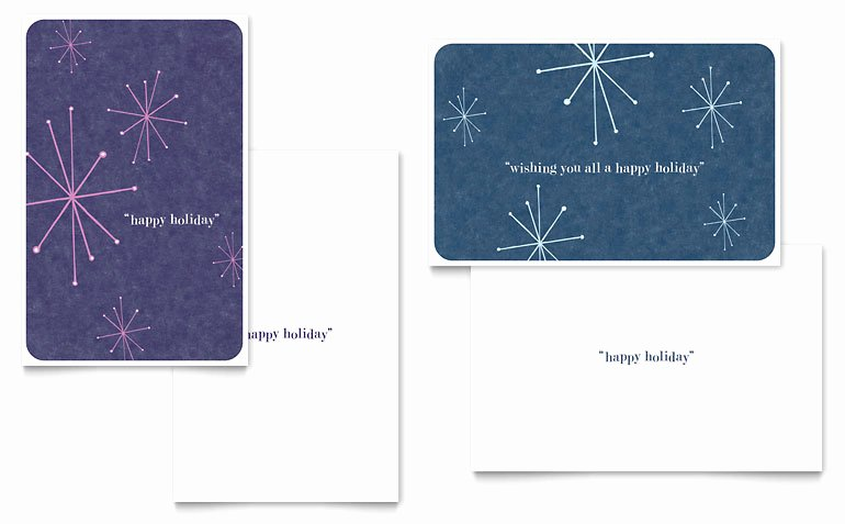 Greeting Card Template Word Lovely Snowflake Wishes Greeting Card Template Word & Publisher