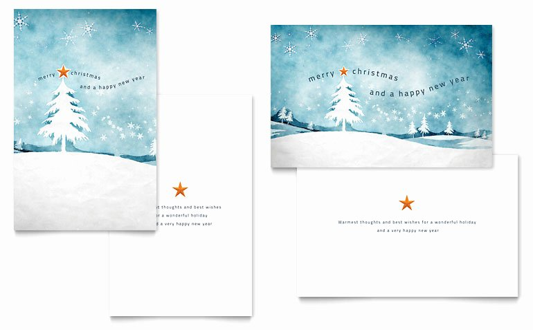 Greeting Card Template Word Luxury Winter Landscape Greeting Card Template Word & Publisher