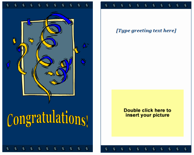 Greeting Card Template Word New Congratulations Greeting Card Template Easy Printable