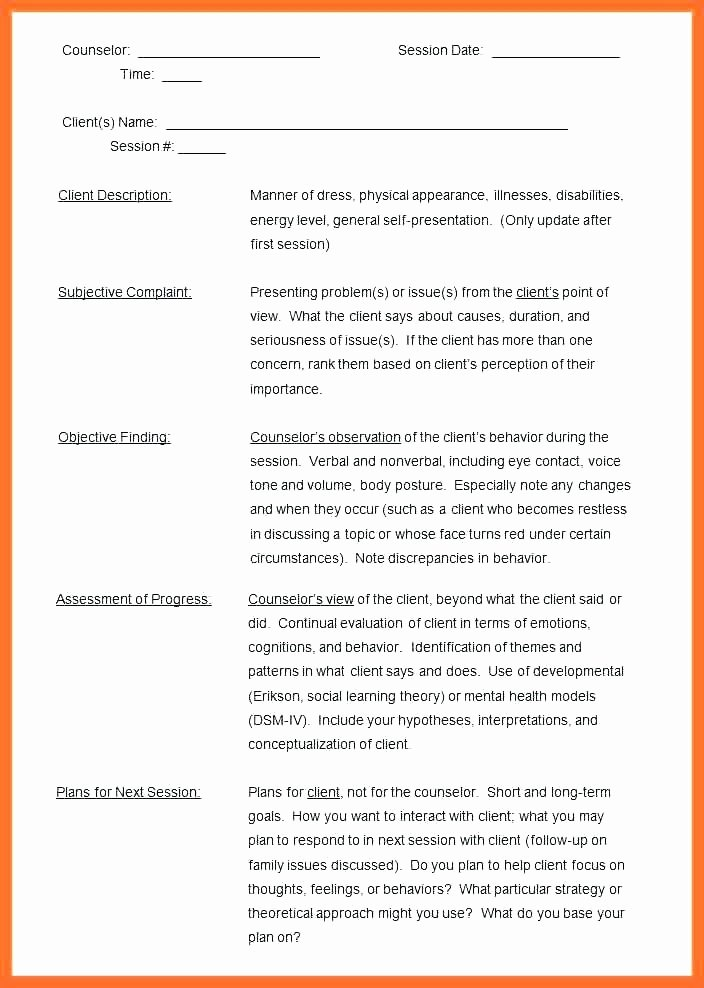 Group therapy Notes Template Luxury 6 Sample Notes Doc Templates Group therapy Progress Blank