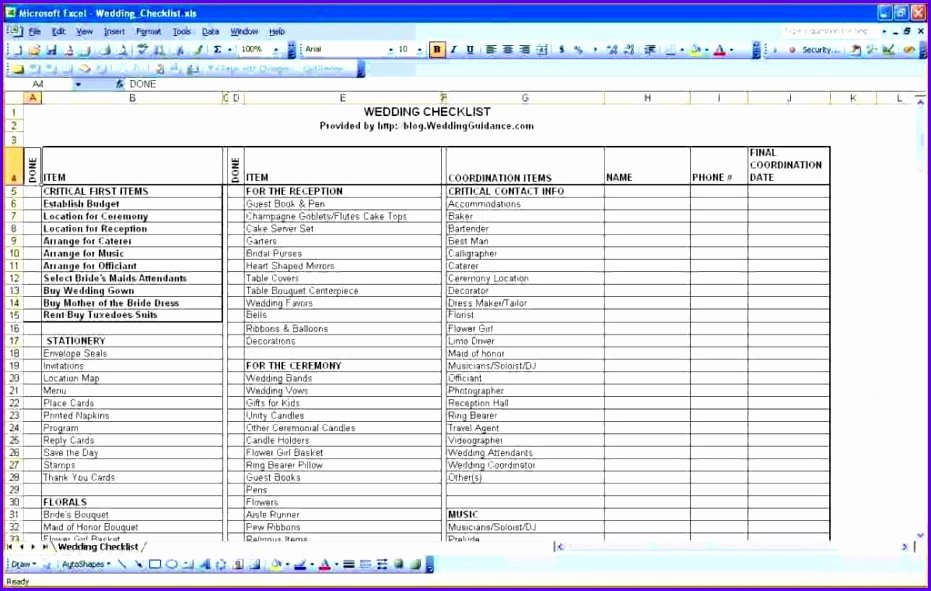 Guest List Template Excel Awesome 9 Excel Guest List Template Exceltemplates Exceltemplates