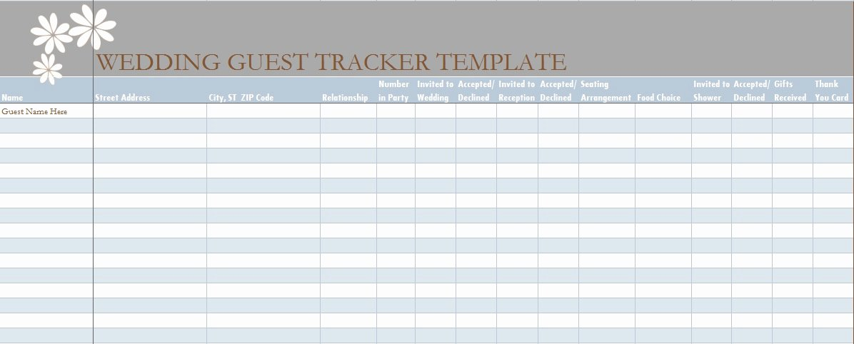 Guest List Template Excel Best Of Wedding Guest List Template In Excel Excel Tmp