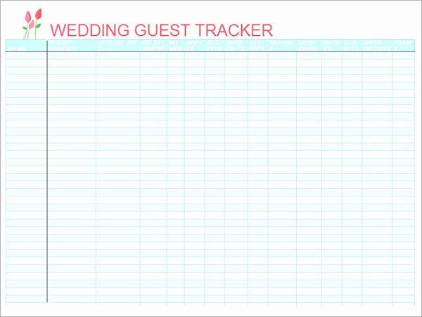 Guest List Template Excel Lovely 17 Wedding Guest List Templates – Pdf Word Excel