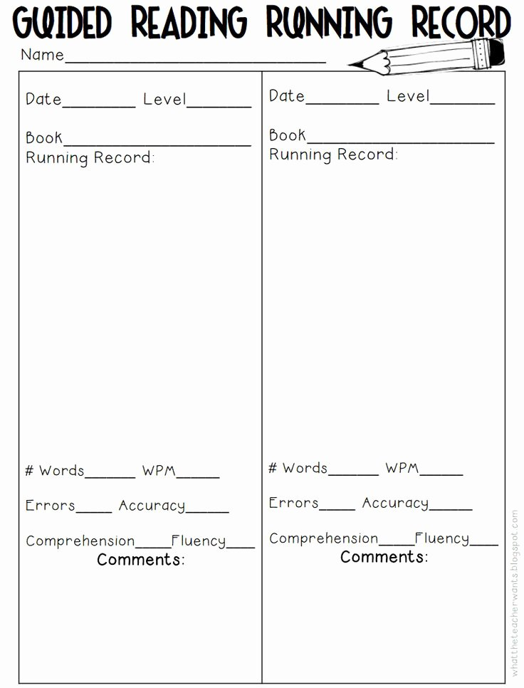 Guided Reading Template Pdf Awesome 1000 Ideas About Running Records On Pinterest